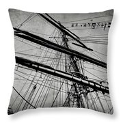 Tall Ship Mast V3 Throw Pillow
