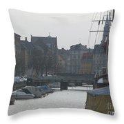 Tall Ship Of Copenhagen Throw Pillow