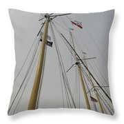Tall Ship Rigging Throw Pillow
