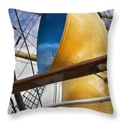 Tall Ship Throw Pillow by Robert Lacy