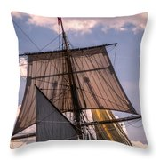 Tall Ship Sails 6 Throw Pillow