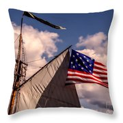 Tall Ship Sails 8 Throw Pillow