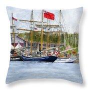 Tall Ships Festival Throw Pillow