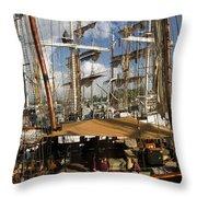 Tall Ships Heritage Landing Throw Pillow
