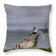 Uscg Eagle In Maine Throw Pillow
