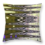 Tall Tempe Building Abstract Throw Pillow