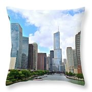 Tall Towers In Chicago Throw Pillow