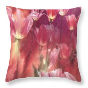 Tall Tulips Throw Pillow