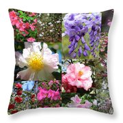 Tallahassee Springtime Collage Throw Pillow