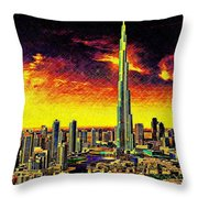 Tallest Building In The World Throw Pillow