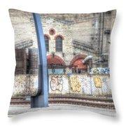 Tallin Graffiti Station Throw Pillow