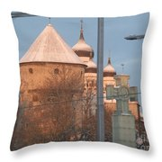 Tallin Towers At Sunrise Throw Pillow