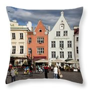 Tallinns Town Hall Square Throw Pillow