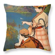 Talloires, France, Paris Lyon Mediterranean Throw Pillow