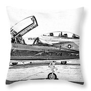 Talon Vs. Hornet Throw Pillow