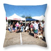 Tamales For Sale Throw Pillow