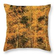 Tamarack Foliage Throw Pillow