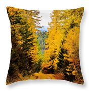 Tamarack Trail Throw Pillow