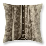 Tambura In Black And White Throw Pillow