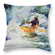 Taming Of The Chute Throw Pillow