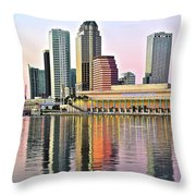 Tampa Bay Alive With Color Throw Pillow