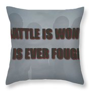 Tampa Bay Buccaneers Battle Throw Pillow