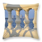 Tampa Bay Cycling Throw Pillow