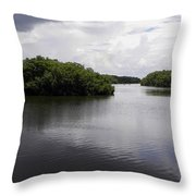 Tampa Bay Inlet  Throw Pillow