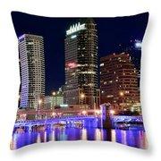 Tampa Bay Pano Lights Throw Pillow