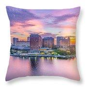 Tampa Bay Panorama  Throw Pillow