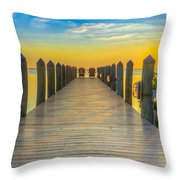 Tampa Bay Sunset Throw Pillow