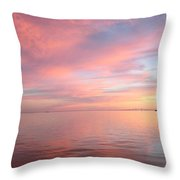 Skyway Sunset Throw Pillow