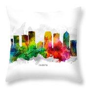 Tampa Florida Cityscape 12 Throw Pillow