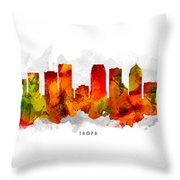 Tampa Florida Cityscape 15 Throw Pillow