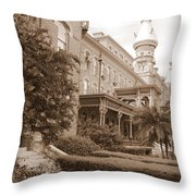 Tampa Gem In Sepia Throw Pillow