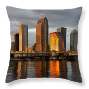Tampa In Reflection Throw Pillow