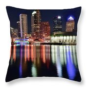 Tampa In Vivid Radiant Color Throw Pillow