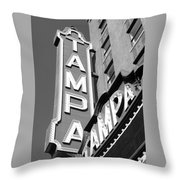 Tampa Theatre Bw Throw Pillow