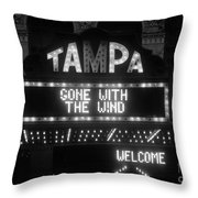 Tampa Theatre 1939 Throw Pillow