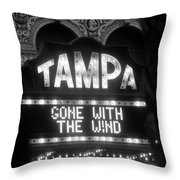 Tampa Theatre Gone With The Wind Throw Pillow