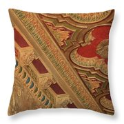 Tampa Theatre Ornate Ceiling Throw Pillow