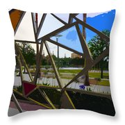 Tampa Through Art Throw Pillow