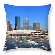 Tampa's Day Panoramic Throw Pillow
