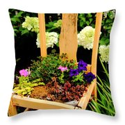 Tan Chair Planter Throw Pillow