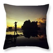Tanah Lot Temple Throw Pillow