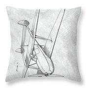 Tandem Biplane Patent Throw Pillow