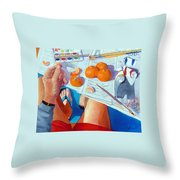 Tangerine Break Throw Pillow