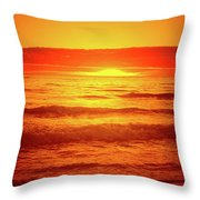 Tangerine Sunset Throw Pillow