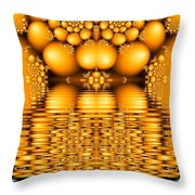 Tangerine Tears Throw Pillow