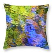 Tangerine Twist Mosaic Abstract Art Throw Pillow